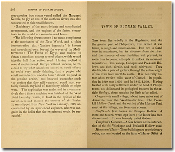 History of Putnam Valley